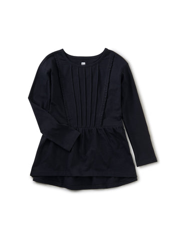 Pleated Pintuck Top - Jet Black
