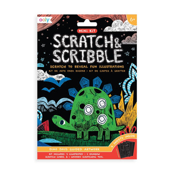 Mini Scratch & Scribble Art Kit - Dino Days