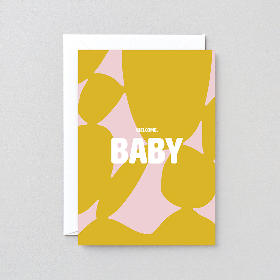 'Welcome Baby' Greeting Card