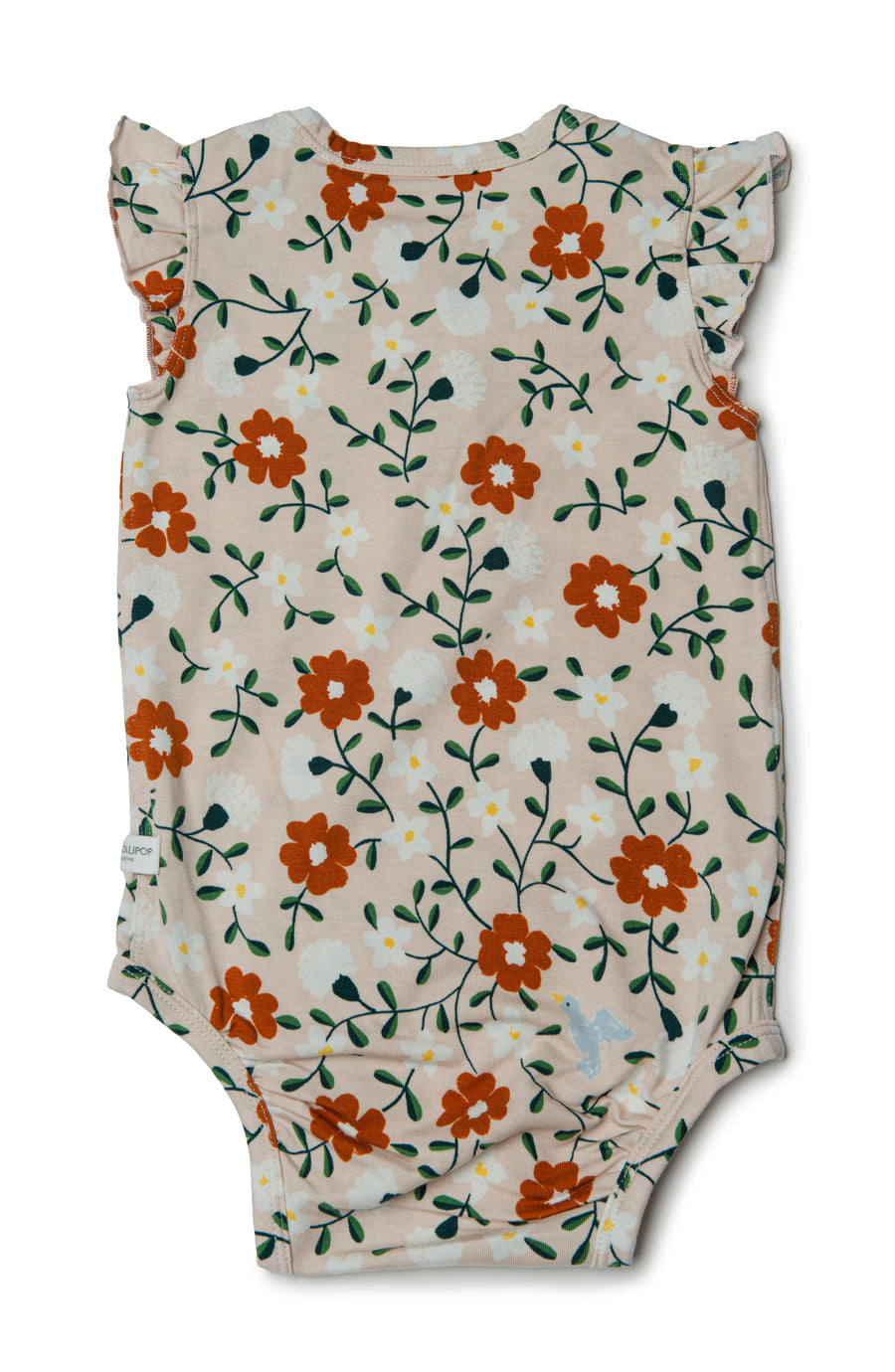 Ruffle Bodysuit in TENCEL™ - Flower Vine