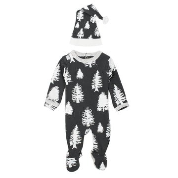 Organic Footie & Cap Set in Timbrrr!