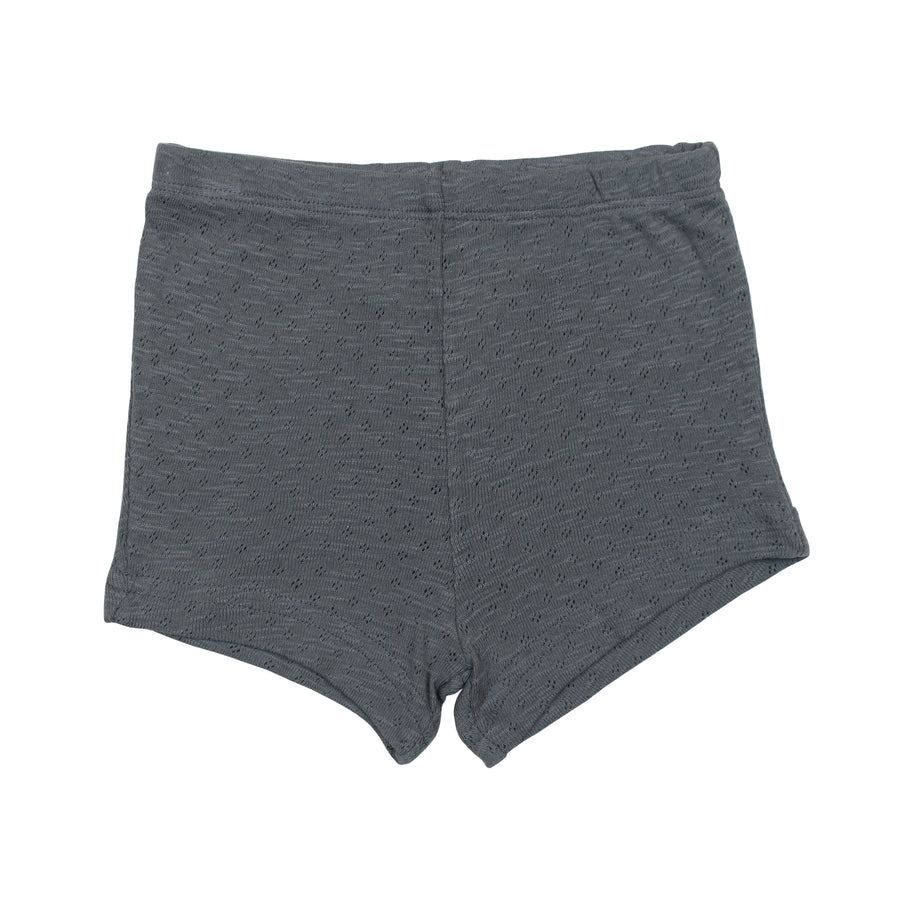Pointelle Tap Shorts - Moonstone