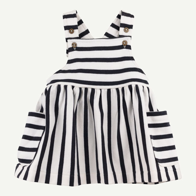 Organic Black & White Striped Dress