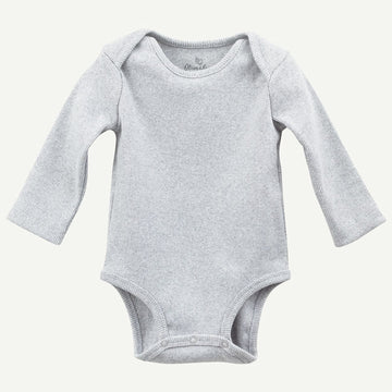 Organic Heather Gray Rib Bodysuit