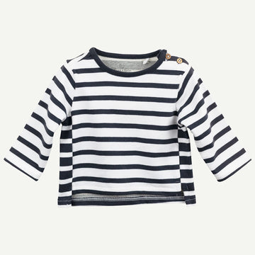 Organic Long Sleeve Striped Tee