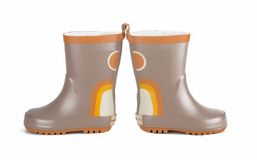 Children's Rain Boots - Rainbow - Stone