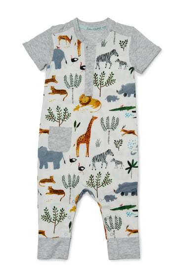 Romper in TENCEL™ - Safari Jungle