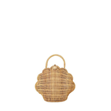 Rattan Shell Bag - Straw