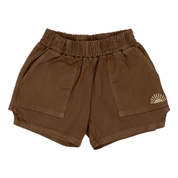 Sidewalk Surfer Dad Shorts - Brown