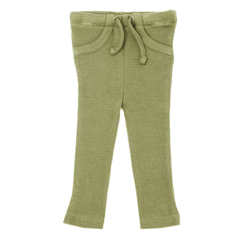 Organic Thermal Drawstring Fitted Pants