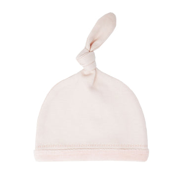 Velveteen Top Knot Hat - Blush
