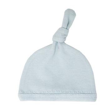 Velveteen Top Knot Hat - Moonbeam