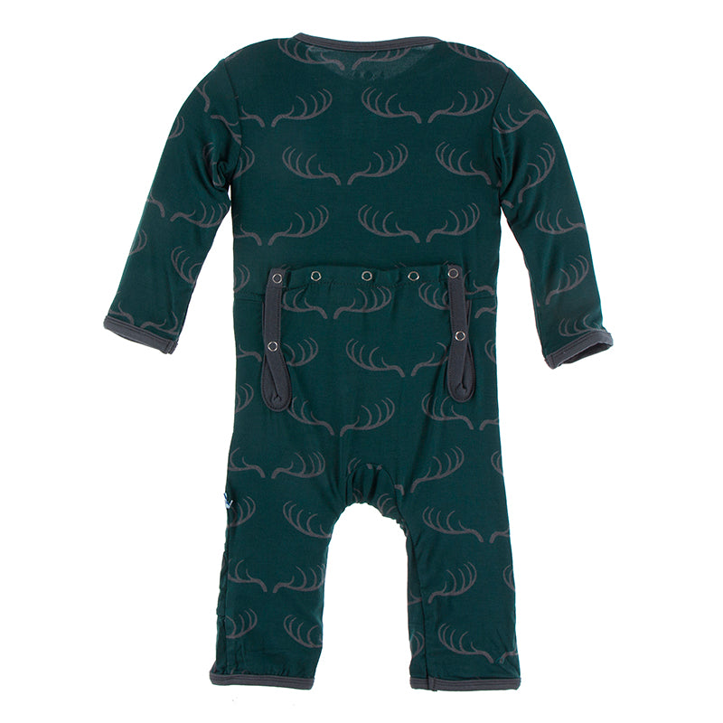 Pine Deer Rack Zipper Coverall
