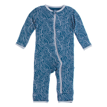 Twilight Whirling River Zipper Coverall