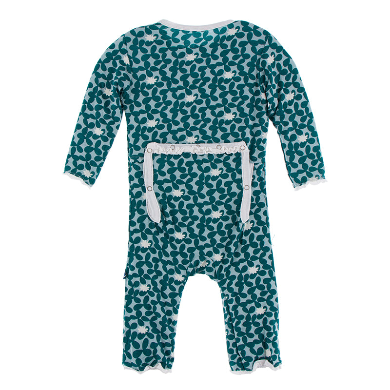 Jade Running Buffalo Clover Muffin Ruffle Zipper Coverall