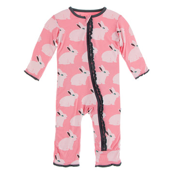 Strawberry Forest Rabbit Muffin Ruffle Zipper Coverall