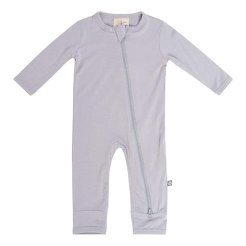 Bamboo Zippered Romper - Storm