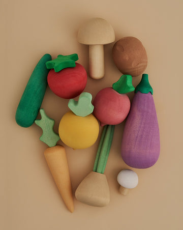 Vegetable Wooden Food Set - Volume 1
