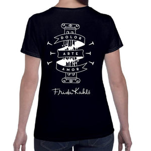 Frida Kahlo Broken Column Black T-Shirt
