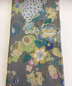 Grey Flower Throw