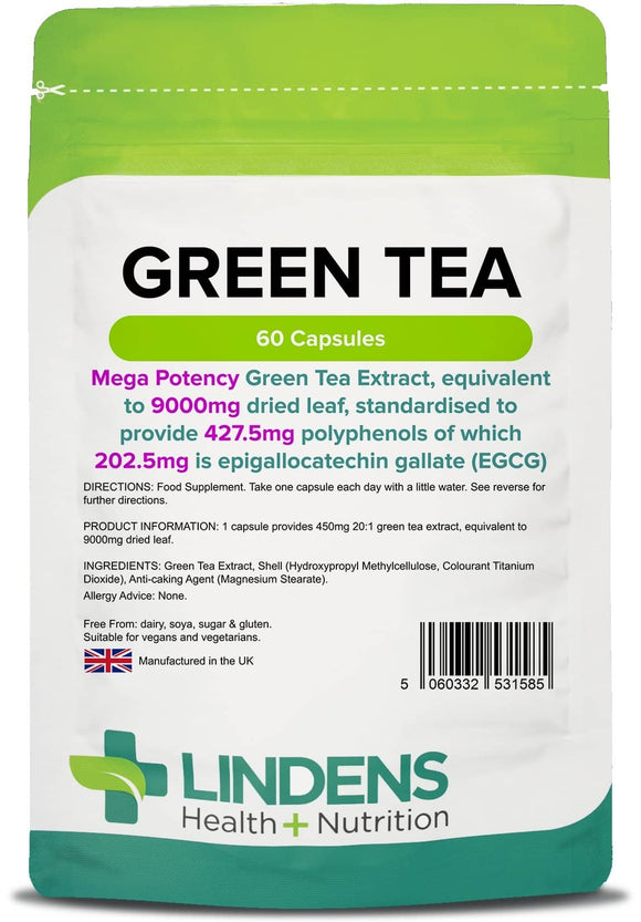 Green Tea 9000mg (203mg EGCG) Capsules - Lindens Health + Nutrition