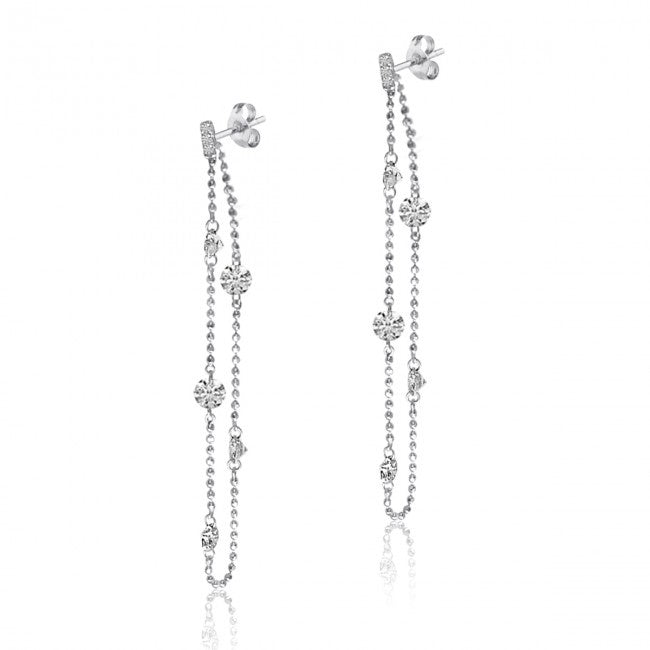 Diamond Chain Dashing Diamond Earrings