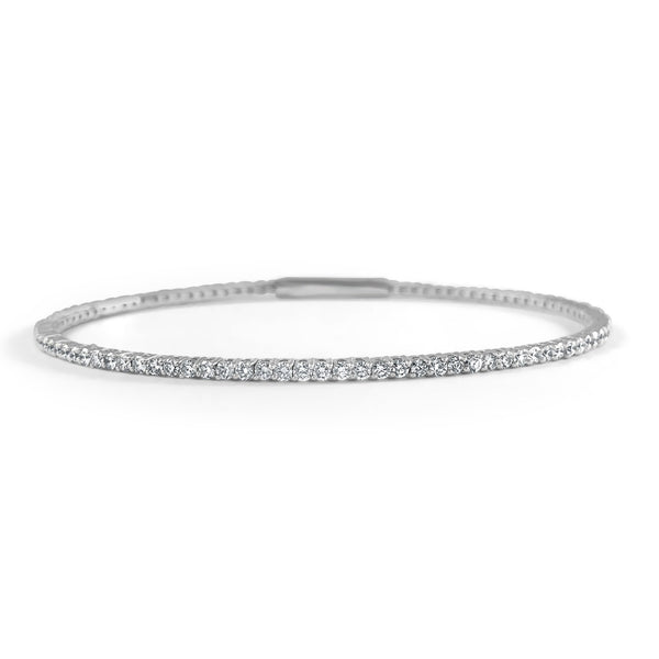 Diamond Flexible Bangle Bracelet - Large