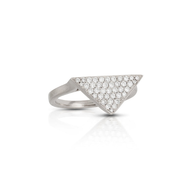 Doves Triangle Pave Ring