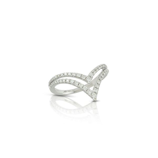 "Diamond Double ""V"" Ring"
