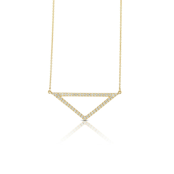 Doves Open Triangle Necklace