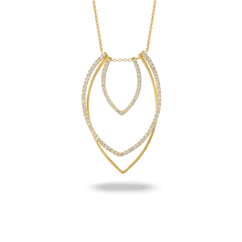 Doves Tri-Layer Necklace