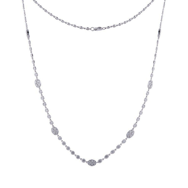 Oval Pave Station Necklace