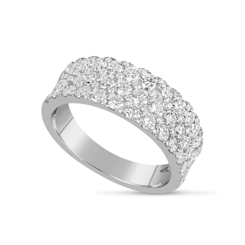 Diamond Pave Concave Band