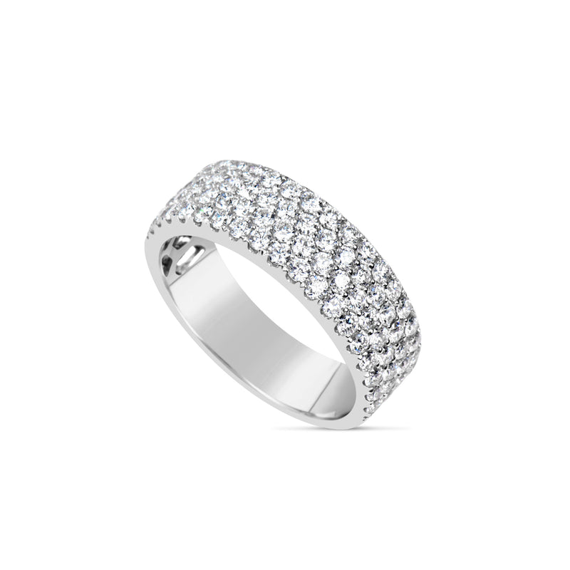 4 Row Pave Diamond Band