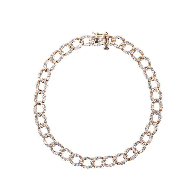 Open Curb Link Diamond Bracelet