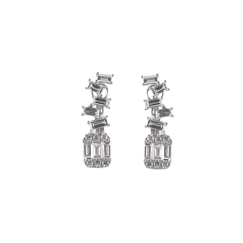Baguette Illuison ZigZag Earrings