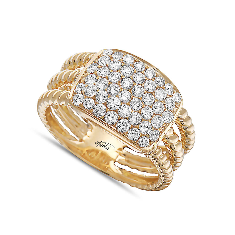 Pave Diamond Wide Rope Ring
