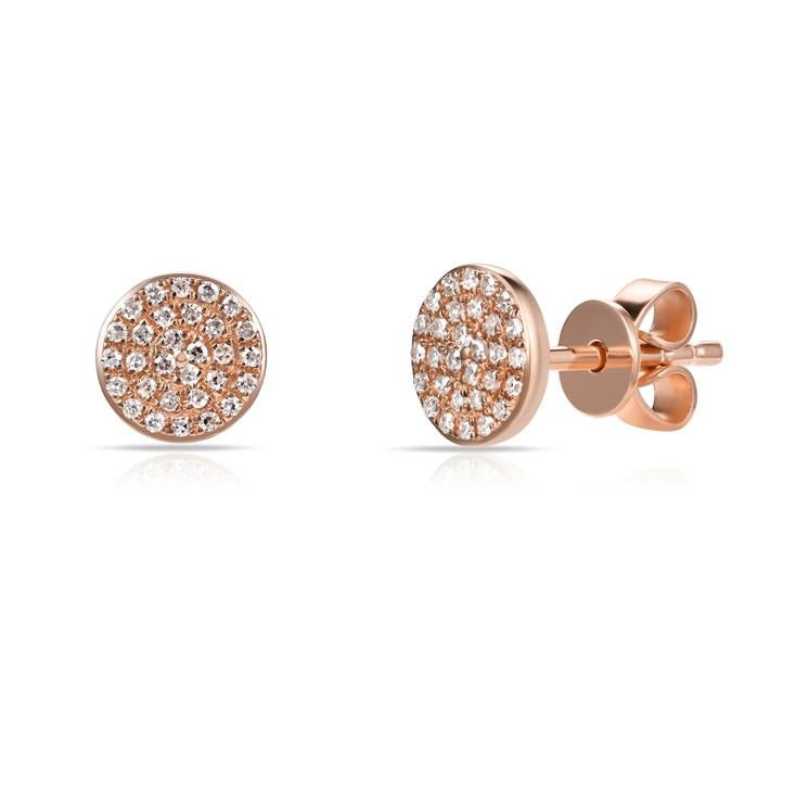 Sabrina Designs 14K Rose Gold Diamond Circle Studs