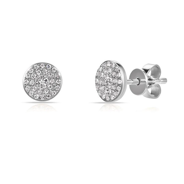 Sabrina Designs 14K White Gold Diamond Circle Studs