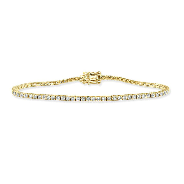 14K Gold Diamond Bracelet