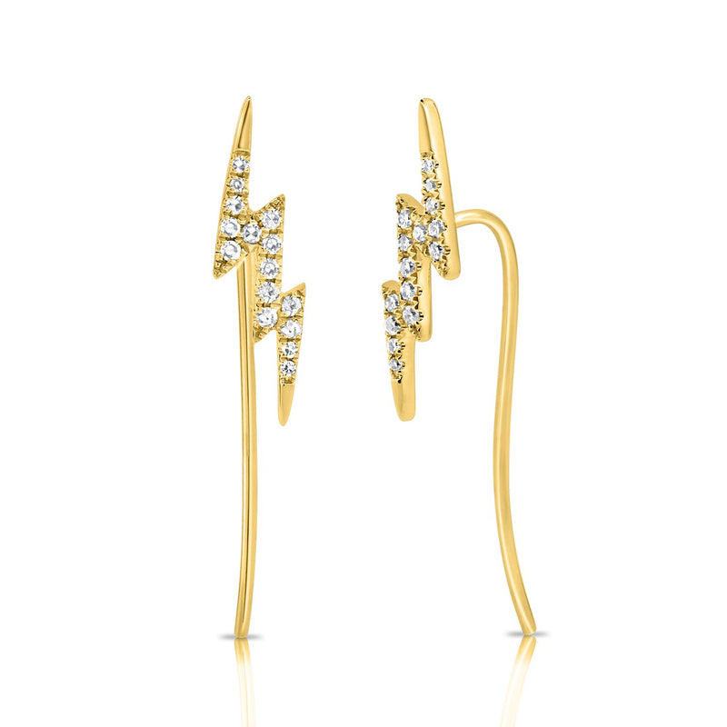 Sabrina Designs 14K Yellow Gold Lightning Bolt Ear Climber