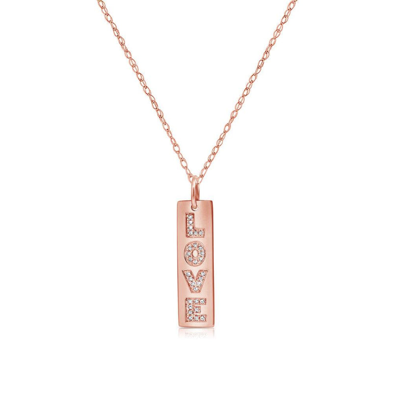 Sabrina Designs 14k Rose Gold Diamond Love Necklace