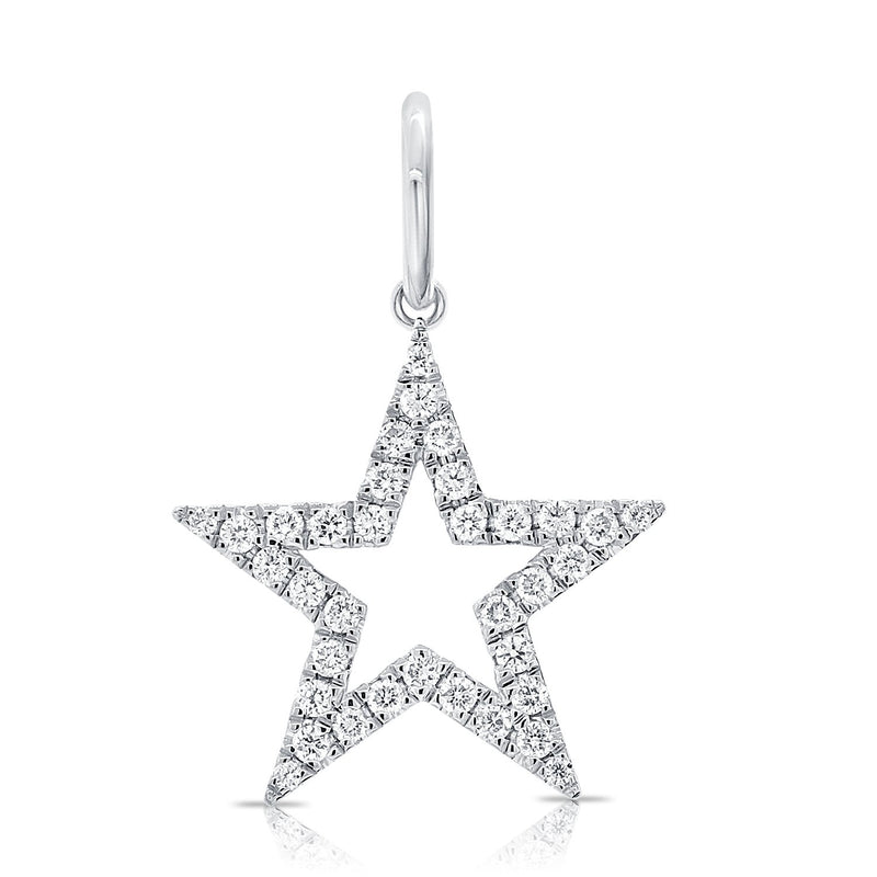 Sabrina Designs 14K White Gold Open Star Diamond Charm