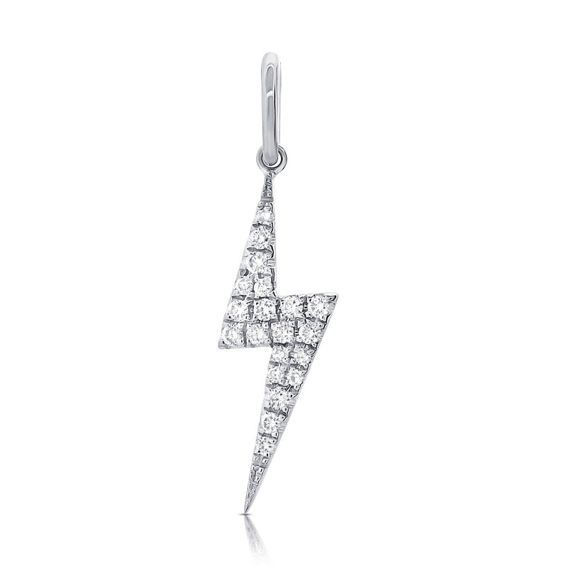 Sabrina Designs 14k White Gold Diamond Lightning Bolt Charm