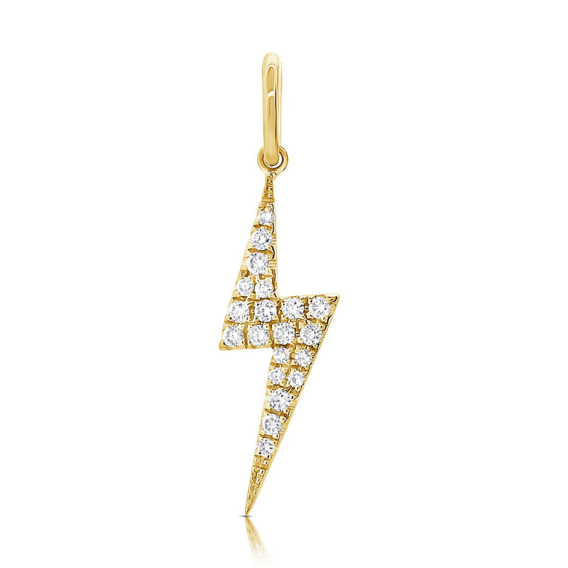 Sabrina Designs 14k Yellow Gold Diamond Lightning Bolt Charm