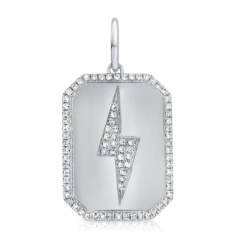 Sabrina Designs 14k White Gold Diamond Lightning Both Charm