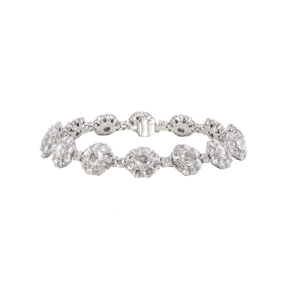 Rose Cut Floral Diamond Bracelet