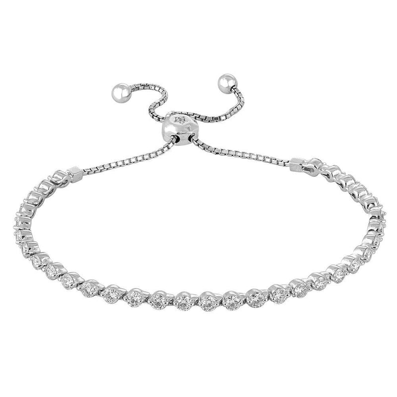 Sabrina Designs 14k White Gold Diamond Bolo Bracelet