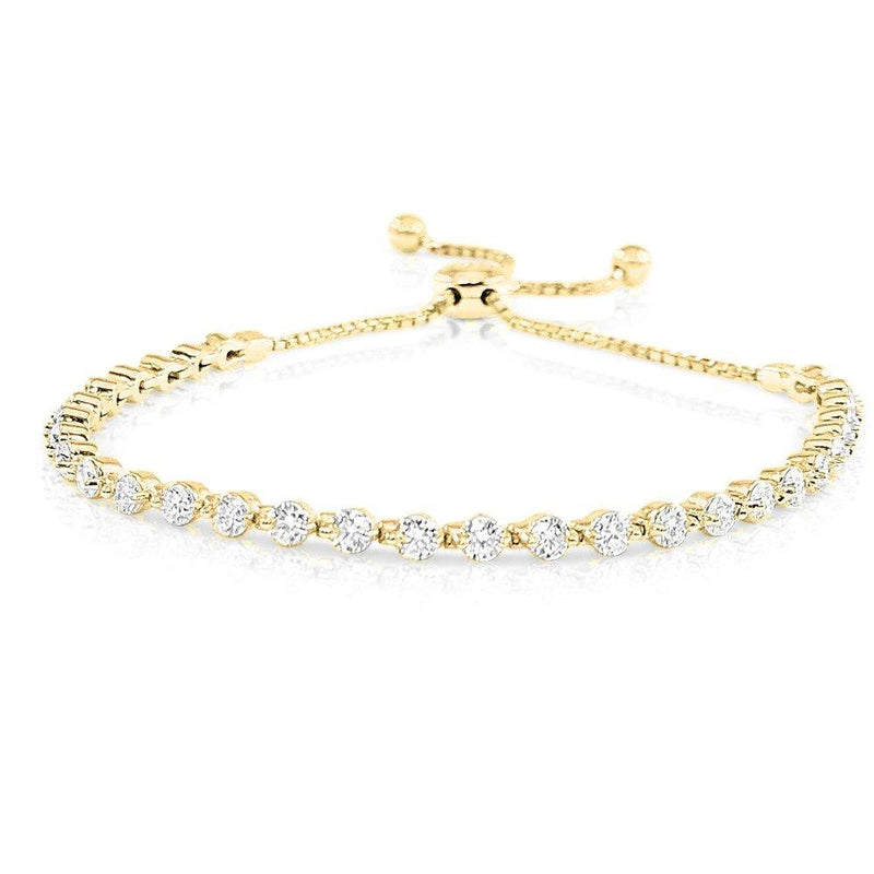 Sabrina Designs 14k Yellow Gold Diamond Bolo Bracelet