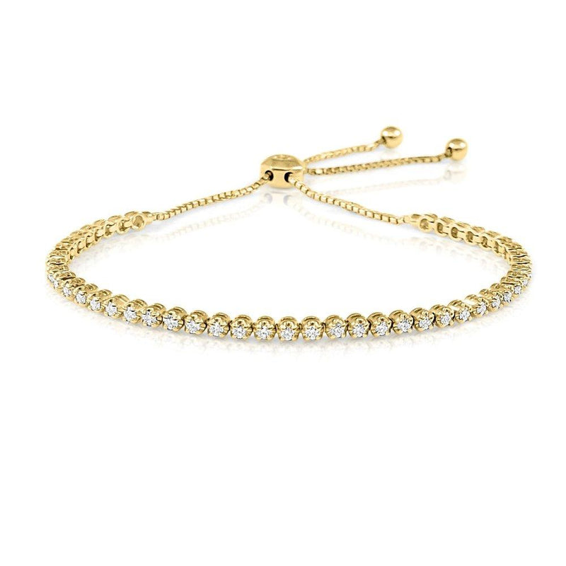 14K Gold & Diamond Adjustable Bracelet